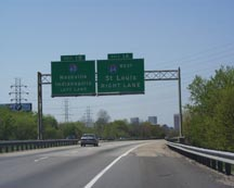 North-East approach to Louisville 2